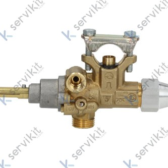 Grifo gas Pel21s eje Ø8x6.5mm con brida
